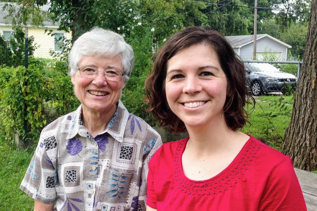 Ellen Reed and Mary Timler in Evansville, IN.