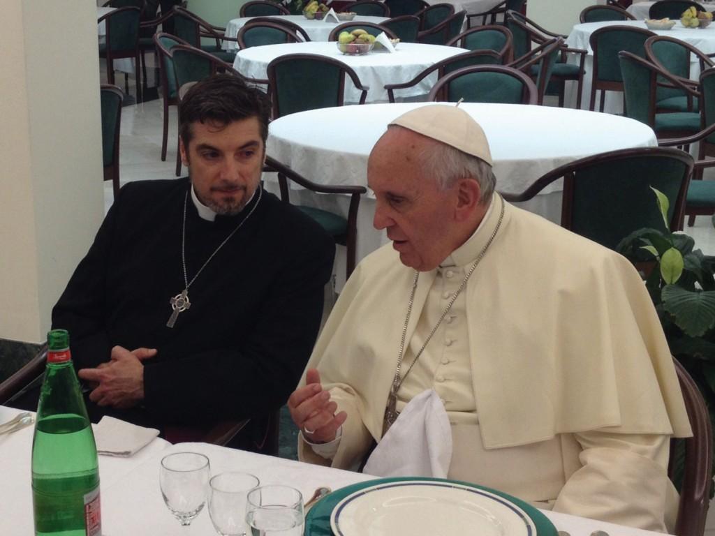Tony Palmer and Pope Francis.