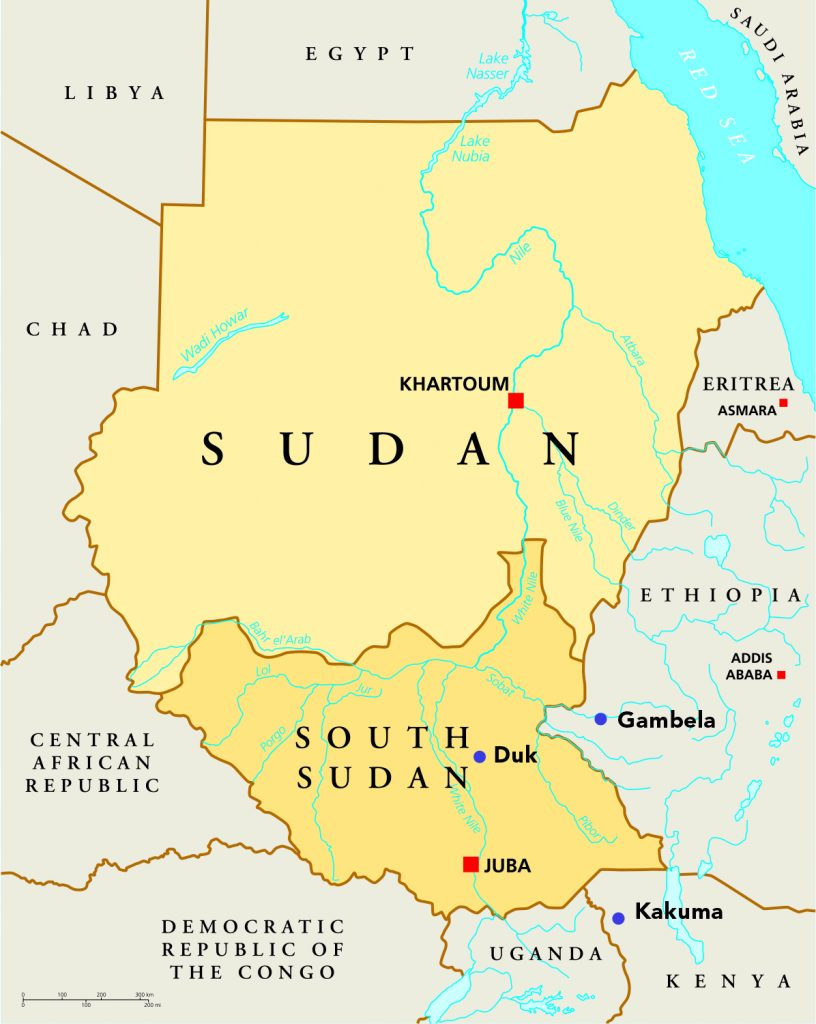 map sudan sized