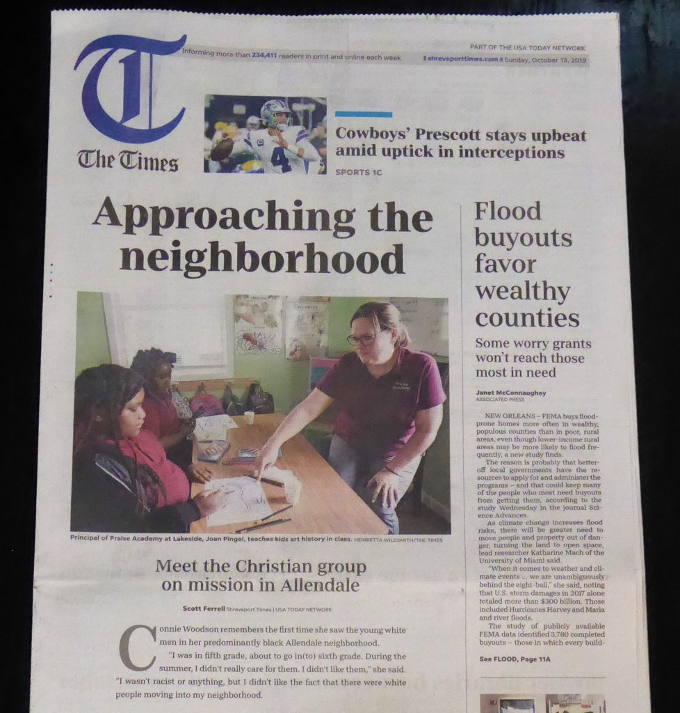 People of Praise Mission Work Makes Front Page